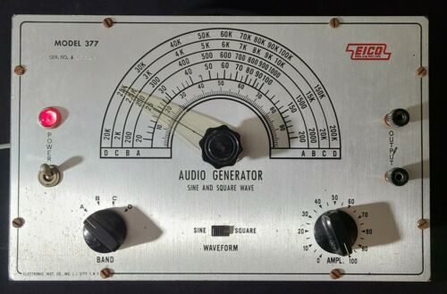 EICO Model 377 Audio Generator Sine & Square Wave