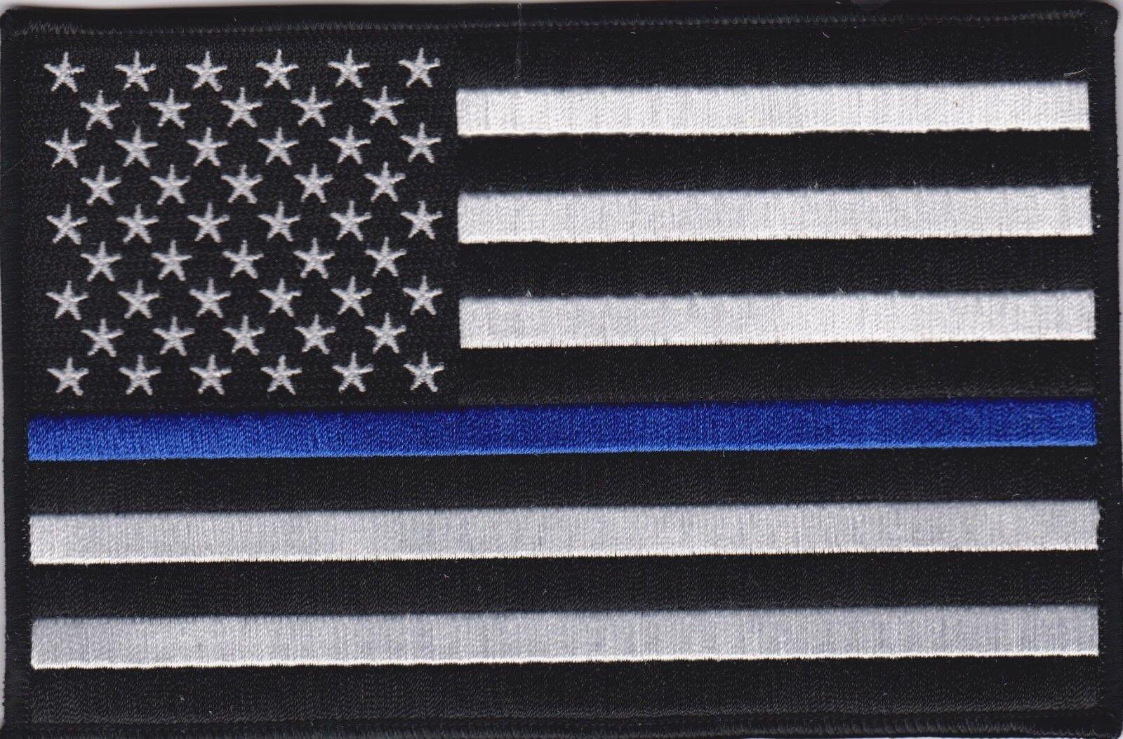 thin blue line union flag patch cops - HD1600×1053