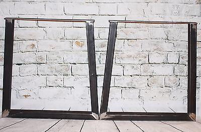 "Steel Bench Desk Table Pedestal Leg-Industrial, welded,unfinished steel 28"""