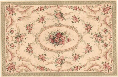 """1:12, 1"""" Scale Dollhouse Miniature Area Rug approximately 5"""" x 7-1/2"""" - 0002058"""