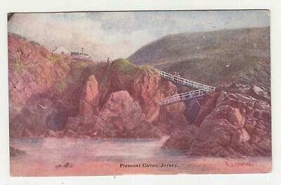 JERSEY, 1906 ppc. PIEMONT CAVES, Tasmania 1d. Hobart, local. image