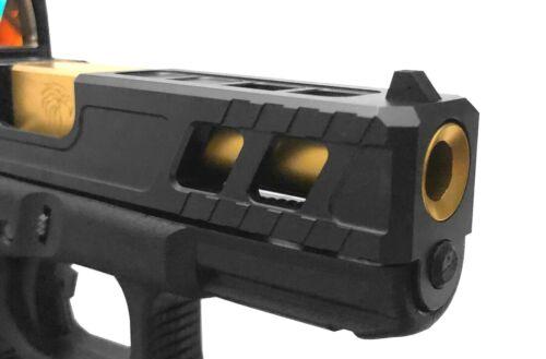 Glock 19 Gen 1-4 Barrel Recessed Deep Crown Flush Cut Titanium Nitride TiN USA