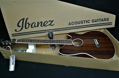 IBANEZ TALMAN TCY13E-DBO Acoustic-Electric Guitar Macassar Ebony Top STRAT STYLE