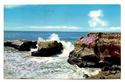 Santa Cruz California Postcard View From Cliff Drive North Shore Monterey Bay