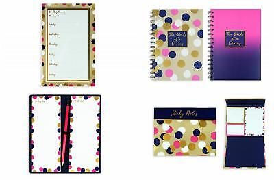 SPOTTED DESIGN A5 SPIRAL NOTEBOOK WEEKLY PLANNER POST IT NOTES SHOPPING LIST Post Spiral Notebook