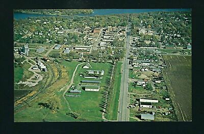 Spirit Lake Iowa IA c1960 AERIAL View of Town, Lake, School, Water Tower & MORE!