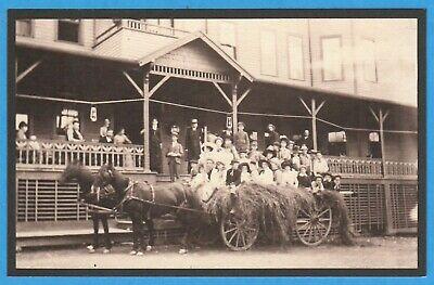 Skaneateles Lake, NY, Ride On Horse Drawn Wagon Glen Haven Resort Repro Postcard