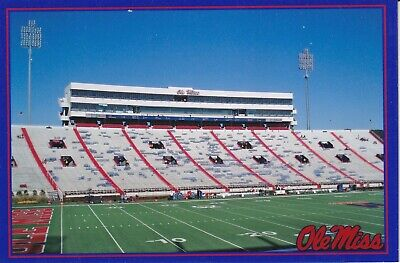 Limited Ed. University of Mississippi Ole Miss Vaught-Hemingway Stadium Postcard