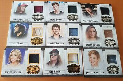 2014 Panini Country Music Costumes cards Lot /399 or Less (9 - Country Music Costumes