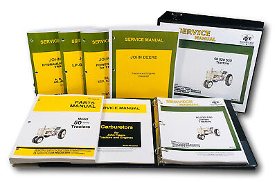 Master Service Parts Manual For John Deere 50 Tractor Shop Book Catalog