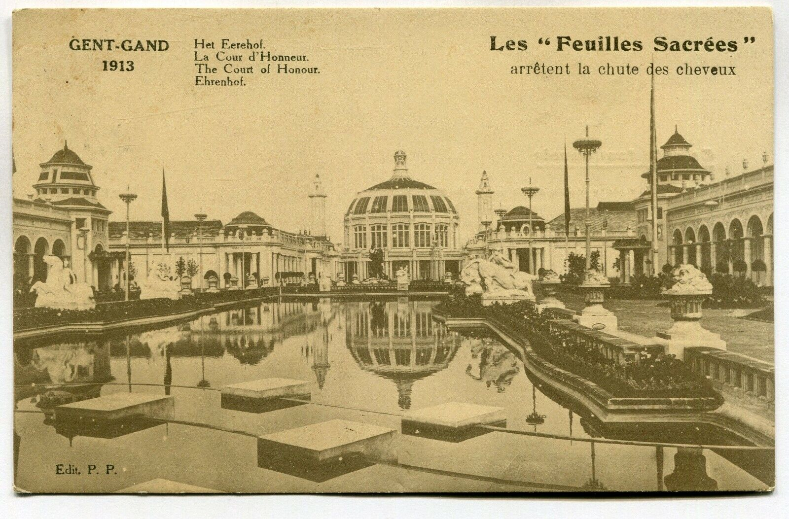 CPA - Carte Postale - Belgique - Gand 1913 - La Cour d'Honneur ( M7350)