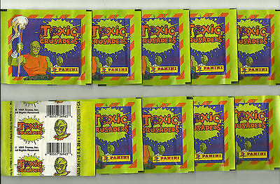 1991 PANINI Toxic Crusaders 10 Sealed Packets