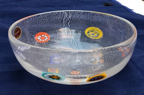 GAMBARO & POGGI  MILLEFIORI GLASS BOWL MURANO, ITALY
