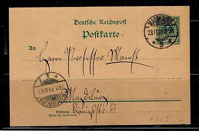Ganzsachen Deutsches Reich Postkarte P 36 I Stempel Magdeburg  -int.94