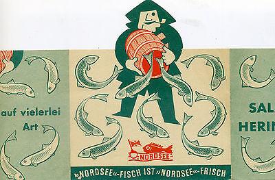 Reklame 50er Nordsee Salz-Heringe Fisch Rezepte
