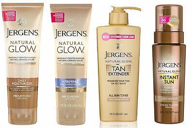Jergens Natural Glow normal/firming daily moisturiser/tan extender/sunless tan