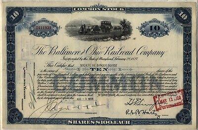 - Baltimore & Ohio B&O Railroad Company Stock Certificate CSX Blue