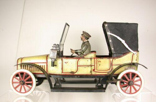 CARETTE DOUBLE PHAETON - 1906 -- GERMANY W/U - LITHOGRAPHED TIN - EX