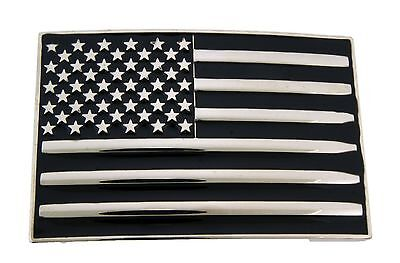 American Us Usa Flag Belt Buckle Cowboy Mens Western Rodeo Metal Fashion Gothic