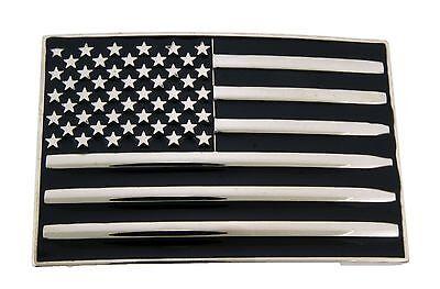 American Us Usa Flag Belt Buckle Cowboy Mens Western Rodeo Metal Fashion Gothic