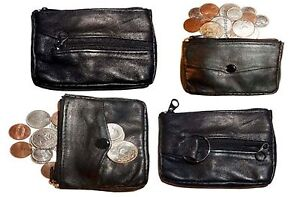 Lot of 4 Change purse Little case w// key ring New in package leather coin case