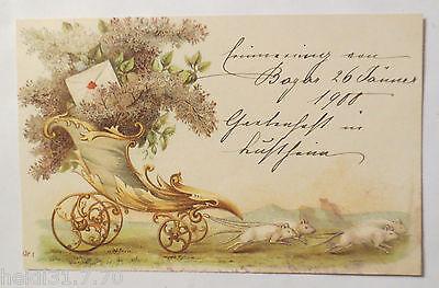 """""""Ratten, Füllhorn, Blumen, Brief, Wagen""""1900 ♥ (27825)"""