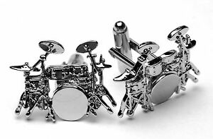 Drum Kit Cufflinks Awesome detail - superb Wedding Day gift for drummers