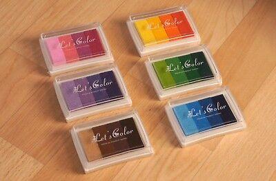 Stempelkissen in Regenbogen Farben, für DIY, Kalender, Notiz, Basteln, Karten