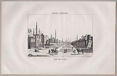 ÄGYPTEN - Kairo - Grande Place / Grosser Platz - Original Kupferstich von 1835
