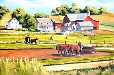 (Printable Wall Art Amish Farm Home Decor Instant Download)