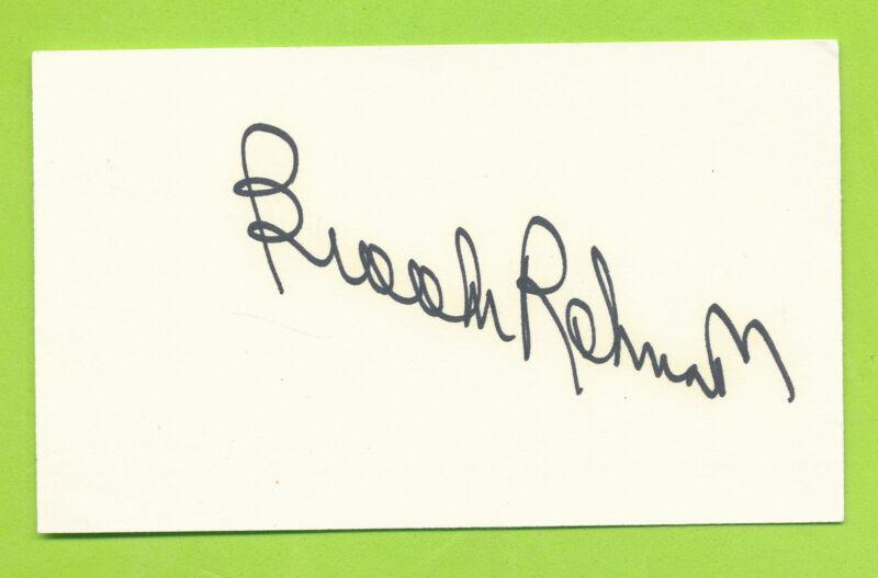 Autographed Index Card - Brooks Robinson  Baltimore Orioles  1964 A.L. MVP  HOF
