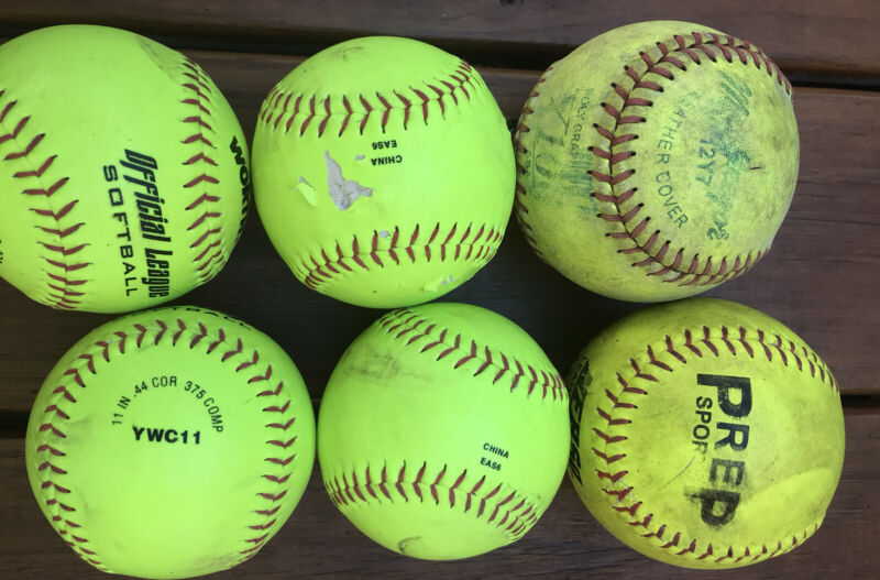 11in Softballs Lot of 6 Worth, Prep Sports, & Macgregor Mixed Lots