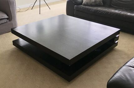 Solid timber veneer coffee table