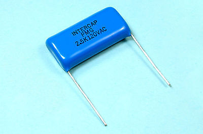 10pcs Baknor Intercap Pmg 2.5uf 125v 10 Polyester Film Capacitor Non-inductive