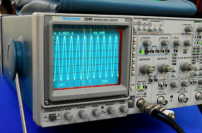 Tektronix 2246a 100mhz Analog 4 Channels Oscilloscope