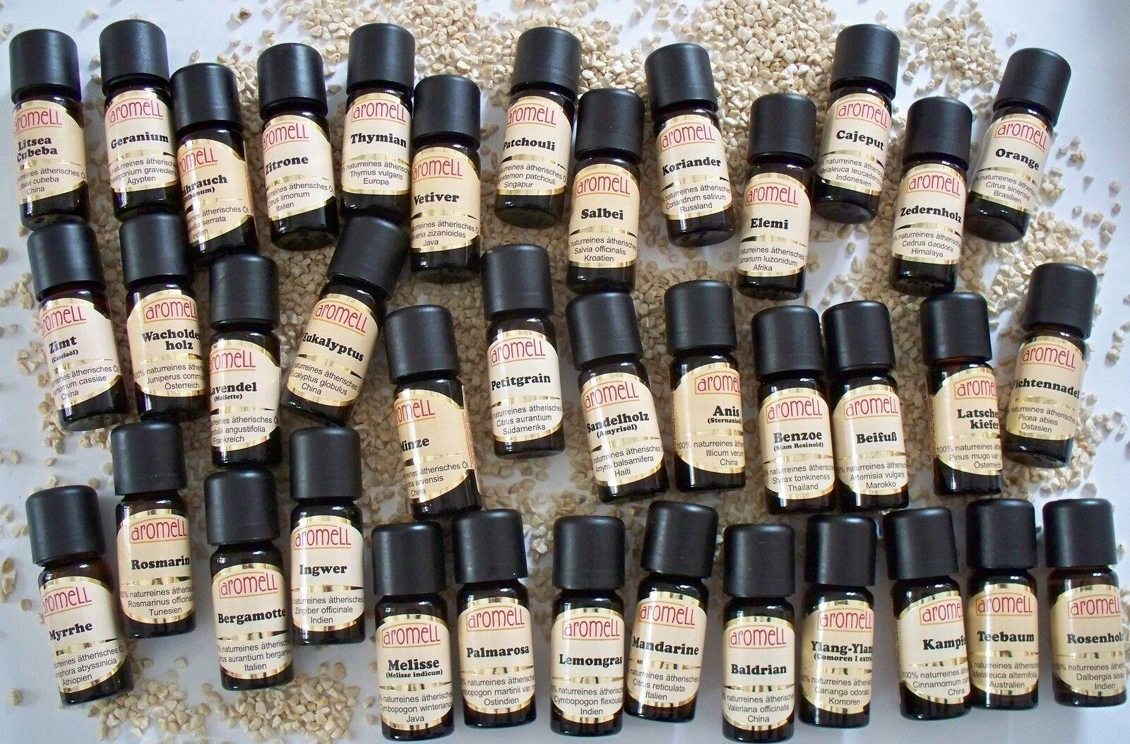 100% Naturreine ätherische Öle ätherisches Öl 65 Sorten! aromell