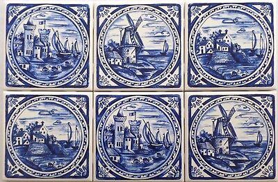 Blue Tile Design - Blue Delft Design Ceramic Tile 6