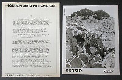 ZZ TOP The Best Of 1977 US Promo PRESS KIT Fran BEARD Billy GIBBONS Dusty (Best Of Zz Hill)