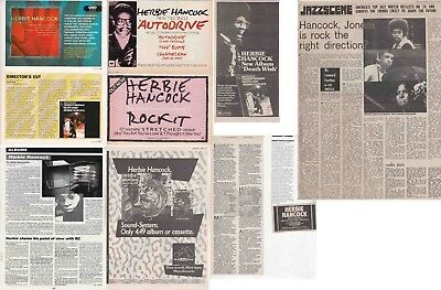 HERBIE HANCOCK : CUTTINGS COLLECTION -adverts interviews- clippings