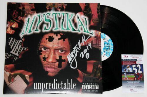 MYSTIKAL SIGNED UNPREDICTABLE 2x LP VINYL RECORD NO LIMIT AUTOGRAPHED JSA COA