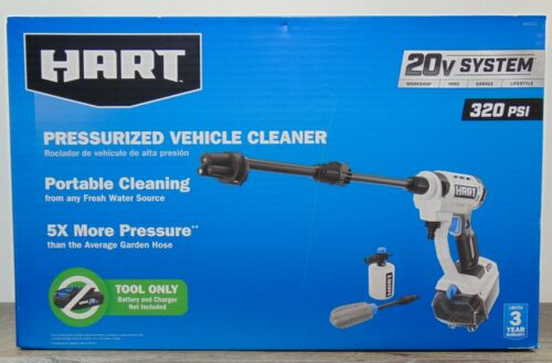 HART 320 PSI .8GPM Portable Pressure Vehicle Cleaner for 20V system (tool only)