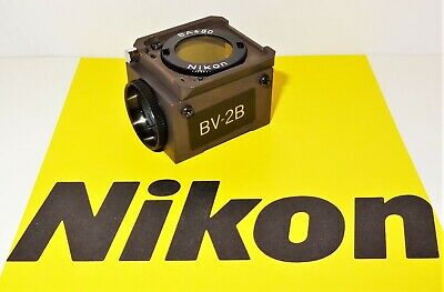 Nikon Blue Violet Bv-2b Fluorescent Microscope Filter Cube For Labophot Optiphot