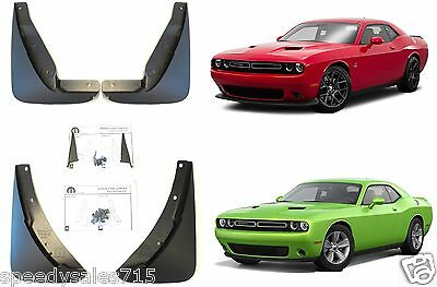 OEM Front & Rear Molded Deluxe Splash Guards For 2015-2018 Dodge Challenger New