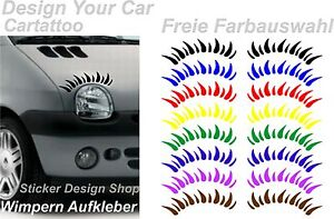 Twingo Wimpern Autoaufkleber Stiker Tuning Aufkleber Auto Beetle Mini Lupo Clio