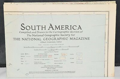 1942 National Geographic MAP SUPPLEMENT SOUTH AMERICA
