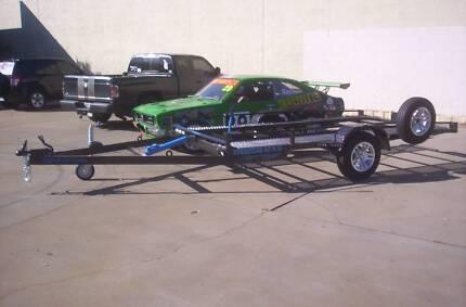 Tilting single axle Car Trailer circuit track car Winnebago.Avida
