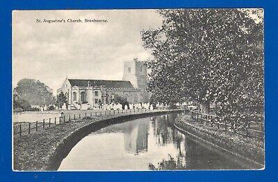 Postcard Broxbourne. St Augustine's Church Hertfordshire unposted pre-1914