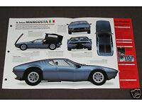 ★★1970 DE TOMASO MANGUSTA SPEC SHEET BROCHURE POSTER PRINT PHOTO 70 67 68 69-71★