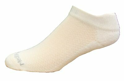 (2-02453) Medipeds Coolmax Poly Flexpanel Low Cut Socks 4 Pair, White, W4-10