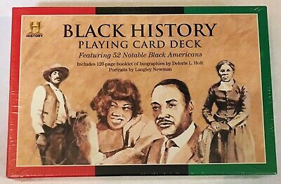 BLACK HISTORY PLAYING CARD DECK~52 NOTABLE BLACK AMERICANS~HISTORY CHANNEL